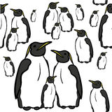 Seamless pattern of penguins   illustration Royalty Free Stock Images