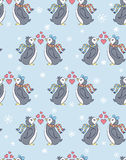 Seamless pattern with penguins Royalty Free Stock Photography