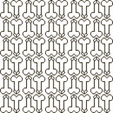 Seamless pattern penis Royalty Free Stock Images