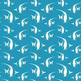 Seamless pattern with pennant fish Royalty Free Stock Photo