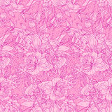 Seamless pattern with peonies Royalty Free Stock Images