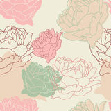 Seamless pattern with peonies. Floral wallpaper Royalty Free Stock Image