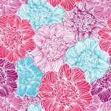 Seamless pattern with peonies flowers Royalty Free Stock Photography