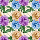 Seamless pattern with peonies Stock Images