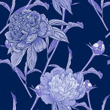 Seamless pattern with peonies Stock Photos