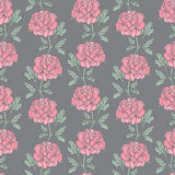 Seamless pattern with peony Royalty Free Stock Photos