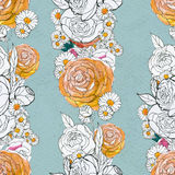 Seamless pattern with peony Stock Photography