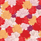 Seamless pattern with peony flowers Royalty Free Stock Photo