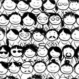 Seamless pattern with people crowd for your design Royalty Free Stock Photo