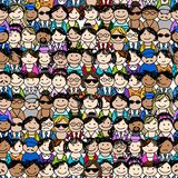 Seamless pattern with people icons for your design Royalty Free Stock Photos