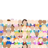 Seamless pattern with people icons for your design Stock Photo