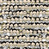 Seamless pattern with people icons for your design Royalty Free Stock Image