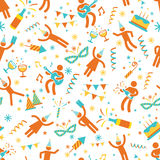 Seamless Pattern : People Party Symbols Royalty Free Stock Photos
