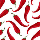 Seamless pattern pepper chili in origami style Royalty Free Stock Photography