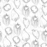 Seamless pattern with pepper Royalty Free Stock Photography