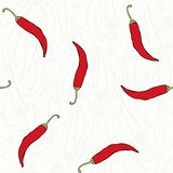 Seamless pattern with peppers. Royalty Free Stock Photo