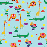 Seamless pattern, perfect set vector illustration in cartoon sty Stock Photography