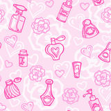 Seamless pattern with perfume bottles Royalty Free Stock Images