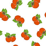 Seamless Pattern of  Persimmon Royalty Free Stock Photos