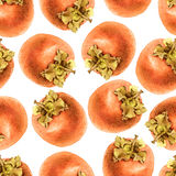 Seamless pattern with persimmon Royalty Free Stock Images