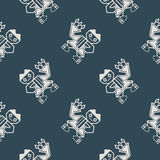 Seamless pattern with Peruvian Indians art and ethnic ornaments Stock Photo
