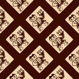 Seamless pattern with Peruvian Indians art and ethnic ornaments Royalty Free Stock Image