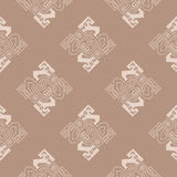 Seamless pattern with Peruvian Indians art and ethnic ornaments Stock Images