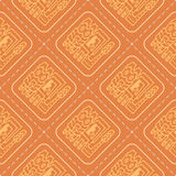 Seamless pattern with Peruvian Indians art Stock Photo