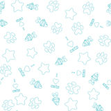 Seamless pattern with pet elements. On white backround Royalty Free Stock Photo