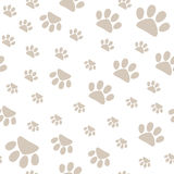 Seamless pattern with pet paws walking in different sides, vector Royalty Free Stock Image