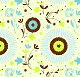 Seamless pattern petro floral Stock Images