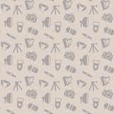 Seamless pattern with photo equipment Stock Photo