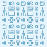 Seamless pattern Photographer. Illustration of seamless pattern Photographer Stock Photography