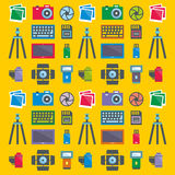 Seamless pattern Photographer Stock Photos