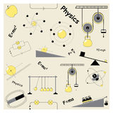 Seamless pattern with physics elements Stock Photos