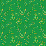 A seamless pattern with pieces of quince and pear. Stock Images