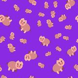 Seamless pattern of pig vector illustration