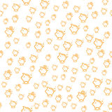 Seamless pattern with piggy bank. Money pattern. vector Stock Image