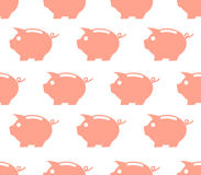 Seamless pattern with piggy bank Stock Photos