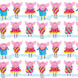 Seamless pattern - pigs Royalty Free Stock Photo