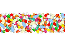 Seamless pattern with pills Royalty Free Stock Images