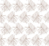 Seamless pattern with pine branches and cones Royalty Free Stock Photo