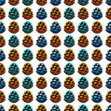Seamless pattern with pine cones Royalty Free Stock Photography