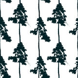 Seamless pattern with pine tree Royalty Free Stock Photo