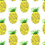 Seamless pattern with pineapple Royalty Free Stock Images