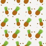 Seamless pattern. Pineapple background. Vector illustration. Perfect for invitations, greeting cards, wrapping paper, posters, fab. Ric print eps 10 vector illustration