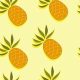 Seamless pattern with pineapple Stock Photo
