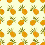 Seamless pattern with pineapple. On a light background Stock Image