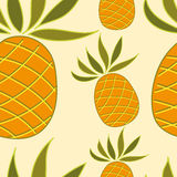 Seamless pattern with pineapple Stock Photography