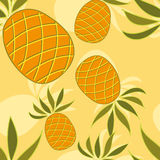 Seamless pattern with pineapple Royalty Free Stock Image